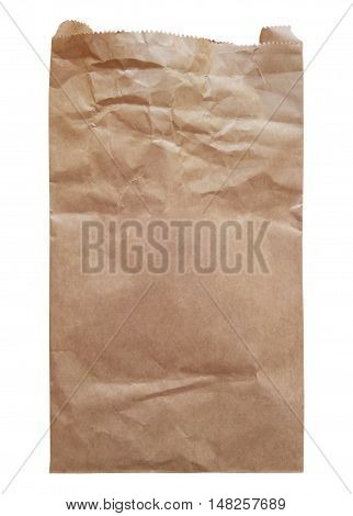 Brown Paper Bag isolated on a white background. Clipping path included