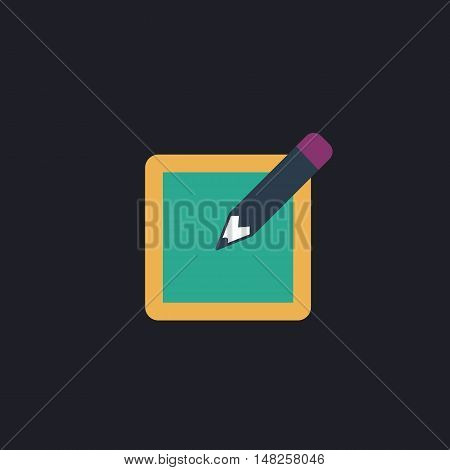 Subscribe Color vector icon on dark background
