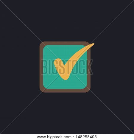Checklist Color vector icon on dark background