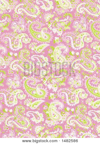 Pink Paisley Background