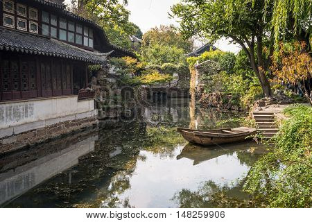 Suzhou China - October 232016: The Humble Administrator's Garden a Chinese garden in Suzhou a UNESCO World Heritage Site.