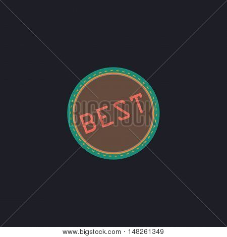 Best Color vector icon on dark background