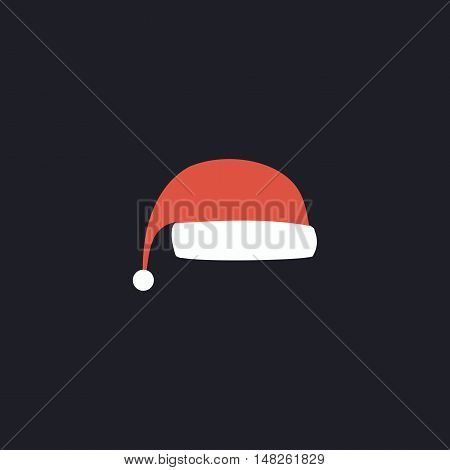 winter cap Color vector icon on dark background