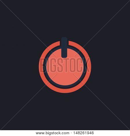 cup top Color vector icon on dark background