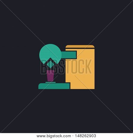 Coffee Maker Color vector icon on dark background