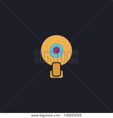 web camera Color vector icon on dark background