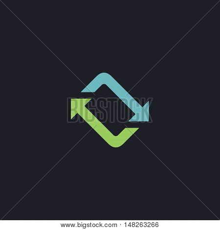 refresh Color vector icon on dark background
