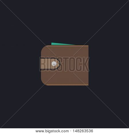 pouch Color vector icon on dark background