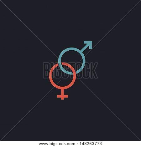 Gender Color vector icon on dark background
