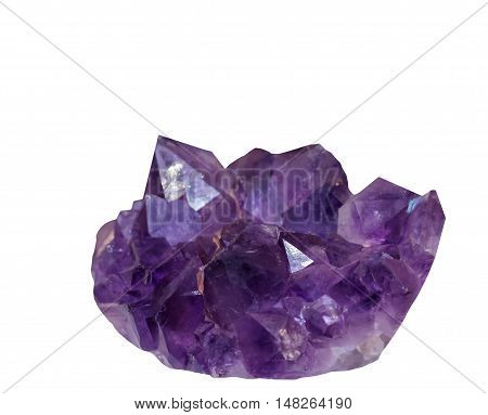 Natural mineral amethyst isolated on a white background