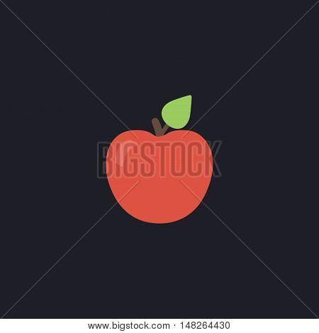 Apple Color vector icon on dark background