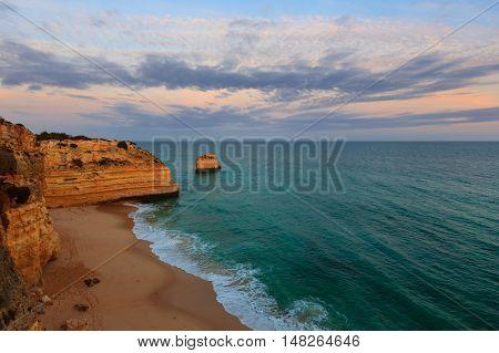 Marinha Beach Near Lagoa, In Algarve, Portugal.