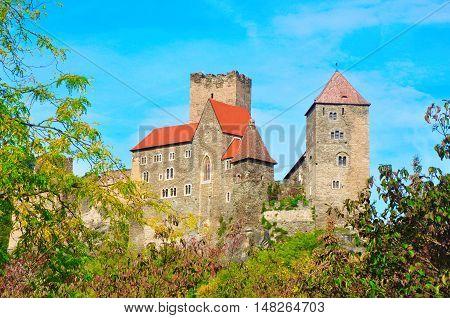 Hardegg fort castle building schloss in Austria