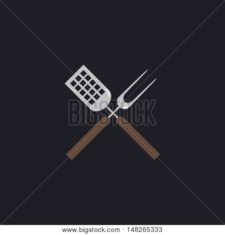 Cutters Color vector icon on dark background