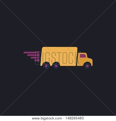Fast Delivery Color vector icon on dark background