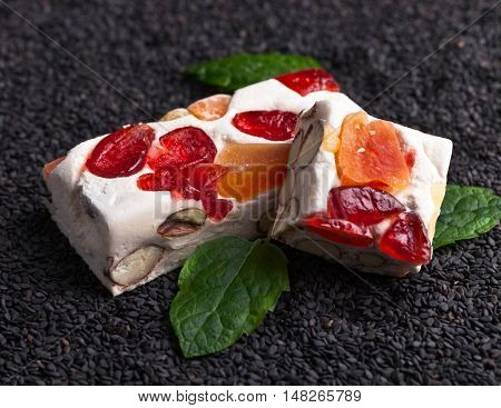Nougat With Tropical Fruit And Peppermint