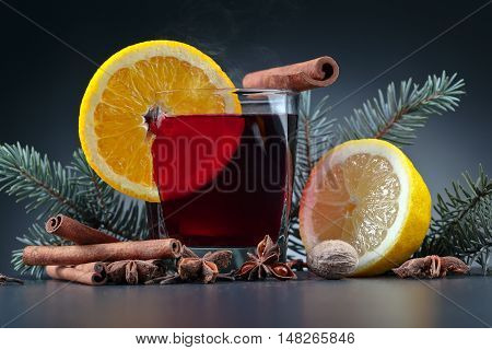 Hot Mulled Wine With Spices