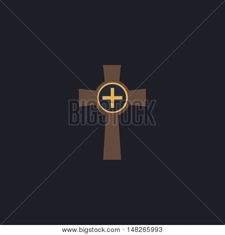 Tombstone Color vector icon on dark background