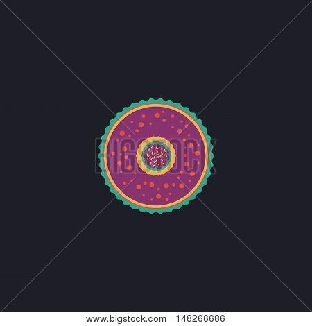 dessert Color vector icon on dark background