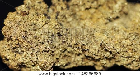 Native gold metal texture as very nice mineral background