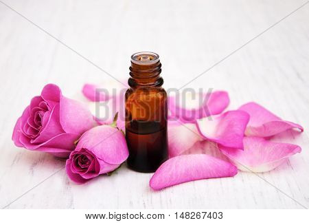 Essential Oil In Glass Bottle