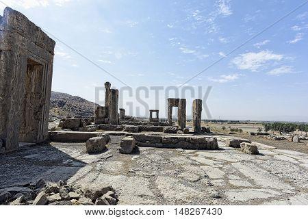 Historical place Persapolis in Shiraz, Iran. September 12, 2016.