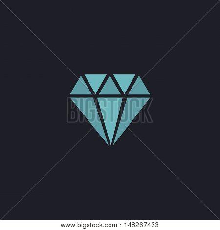 Diamond Color vector icon on dark background