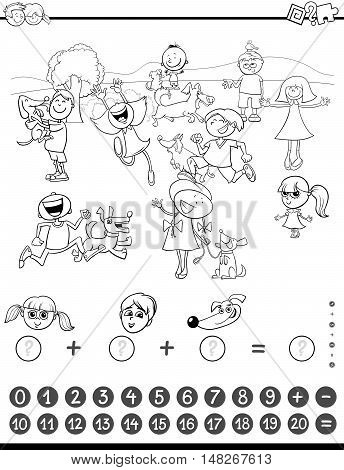 Mathematic Task Coloring Book