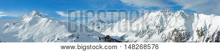 Silvretta Alps Winter Panorama (austria).