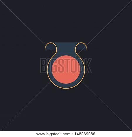 Wobbler Color vector icon on dark background