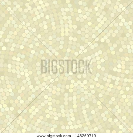 Simple Background Consisting Of Small Light Beige Circles, Vector Illustration