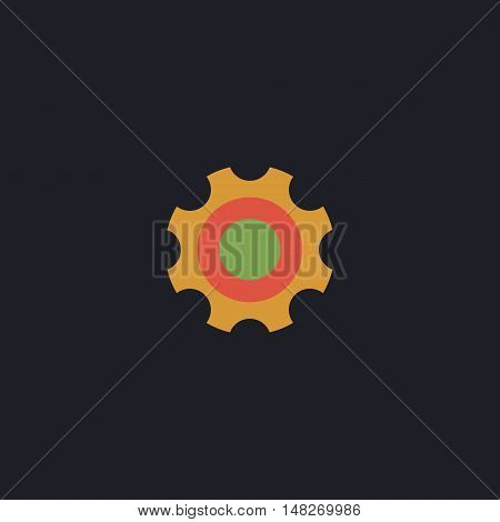 Bearing Color vector icon on dark background