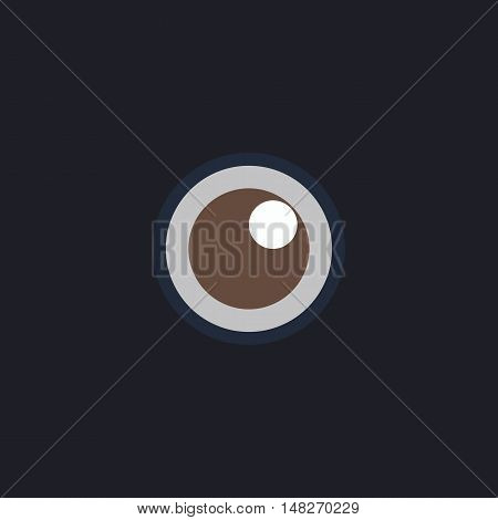 pupil Color vector icon on dark background