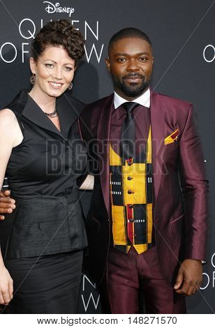David Oyelowo and Jessica Oyelowo at the Los Angeles premiere of 'Queen Of Katwe' held at the El Capitan Theatre in Hollywood, USA on September 20, 2016.