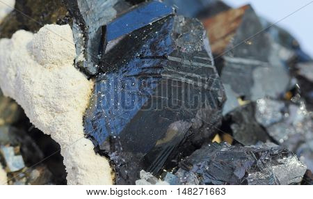 Natural  marmatite ,sulfide minerals with a carbonate