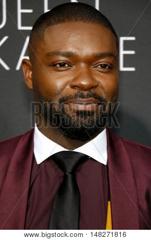 David Oyelowo at the Los Angeles premiere of 'Queen Of Katwe' held at the El Capitan Theatre in Hollywood, USA on September 20, 2016.