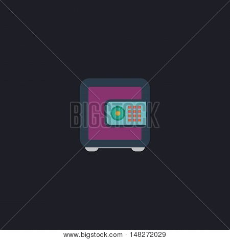 strongbox Color vector icon on dark background