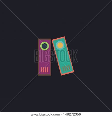 Archive Folders Color vector icon on dark background
