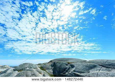 Norwegian sea and rocky mountains - Verdens Ende