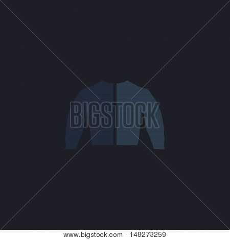 jacket Color vector icon on dark background