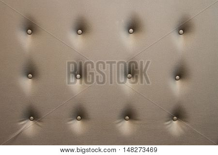 Luxurious golden leather seat upholstery use for background