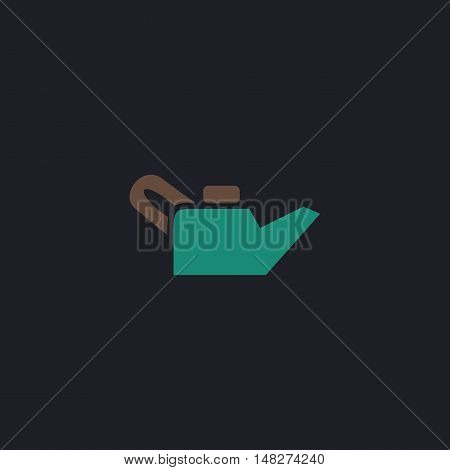 Engine oil Color vector icon on dark background