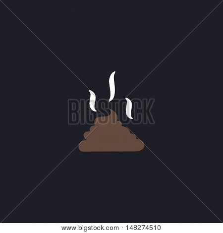 Poop Color vector icon on dark background