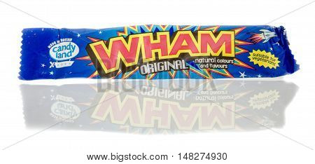 Winneconne WI - 23 July 2016: Wham candy on an isolated background.