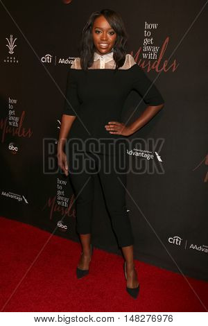 LOS ANGELES - SEP 20:  Aja Naomi King at the