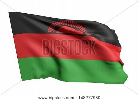 Republic Of Malawi Flag Waving