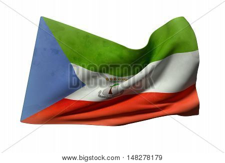 Equatorial Guinea Flag Waving