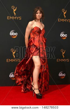 LOS ANGELES - SEP 18:  Hari Nef at the 2016 Primetime Emmy Awards - Arrivals at the Microsoft Theater on September 18, 2016 in Los Angeles, CA