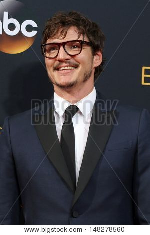 LOS ANGELES - SEP 18:  Pedro Pascal at the 2016 Primetime Emmy Awards - Arrivals at the Microsoft Theater on September 18, 2016 in Los Angeles, CA