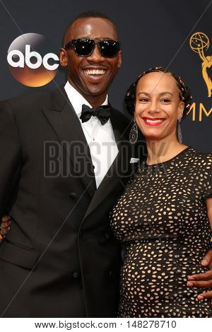 LOS ANGELES - SEP 18:  Mahershala Ali, Amatus Ali at the 2016 Primetime Emmy Awards - Arrivals at the Microsoft Theater on September 18, 2016 in Los Angeles, CA